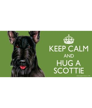 Keep Calm and Hug a Scottie 4x8 Car Magn