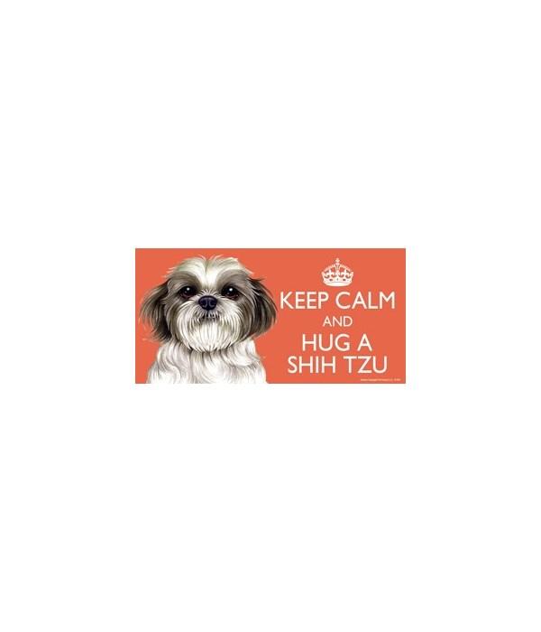 Keep Calm and Hug a Shih Tzu 4x8 Car Mag