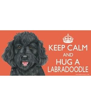 Keep Calm and Hug a Labradoodle (black)