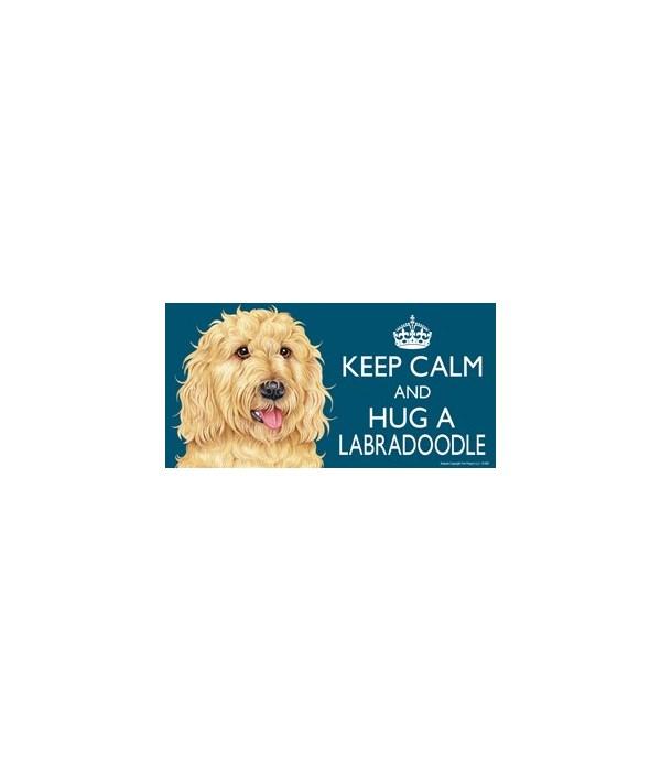 Keep Calm and Hug a Labradoodle (golden)