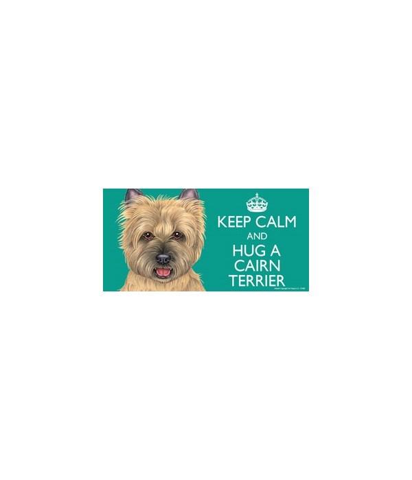 Keep Calm and Hug a Cairn Terrier (tan)