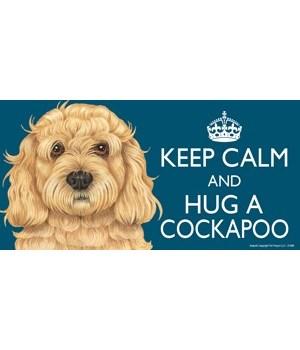 Keep Calm and Hug a Cockapoo 4x8 Car Mag