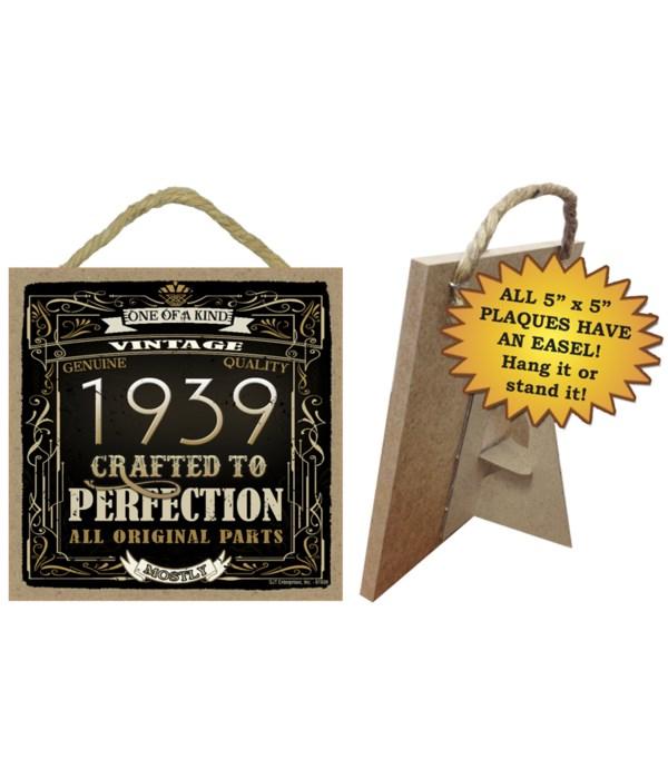 1939 Vintage Plaques 5x5 sign