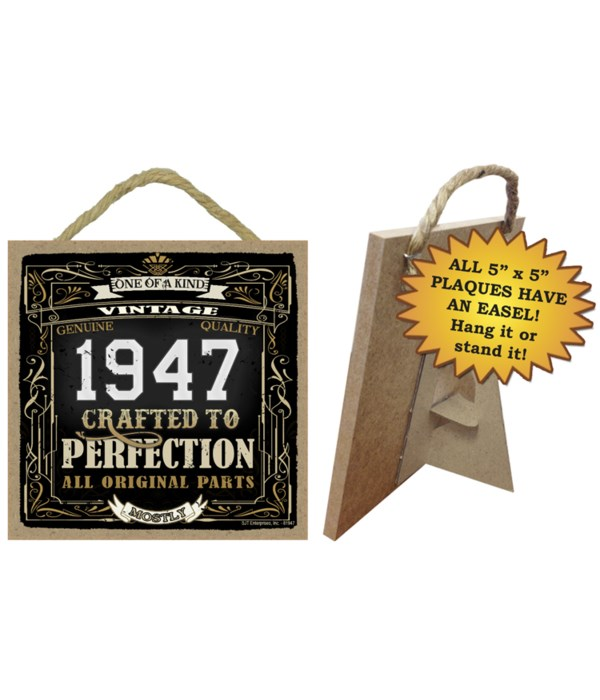 1947 A Year in History Plaques 5x5 sign