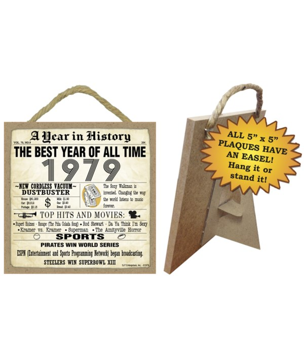 1979 A Year in History Plaques 5x5 sign