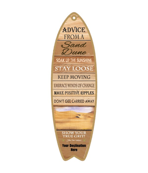 Advice from a Sand Dune - Plank