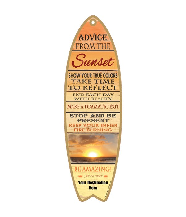 Advice from a Sunset - Plank