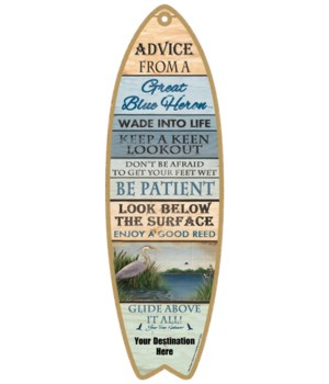 Advice from a Blue Heron- Plank Style
