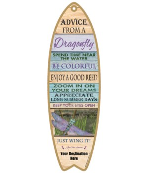 Advice from a Dragonfly - Plank Style
