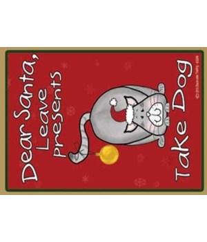 Dear Santa - grey santa cat with ornamen