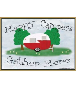 Happy campers gather here - vintage  Mag