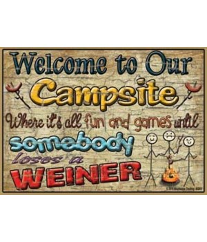 Welcome to our campsite - fun and games