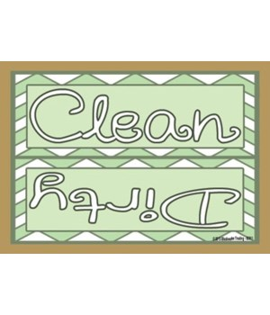 Clean Dirty with light green chevrons Ma