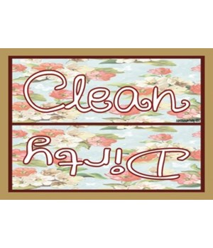 Clean Dirty with vintage flowers Magnet