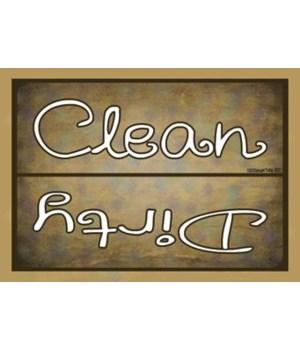 Clean Dirty - dark splotchy background M