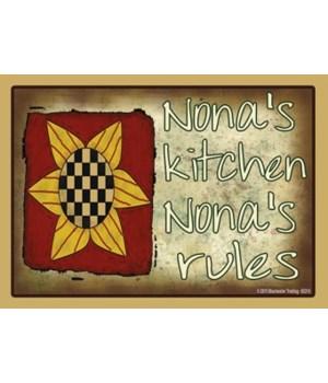 nona's kitchen nona's rules Magnet