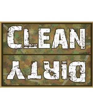 Clean Dirty Hunter Camo Magnet