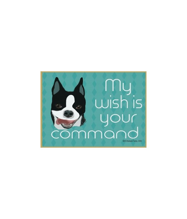 My wish is your command - boston terrier