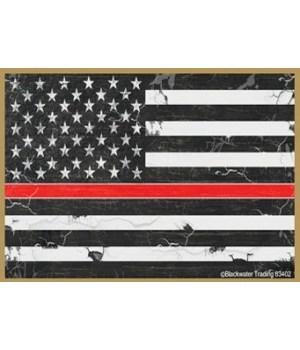 Red Line Flag Black Magnet