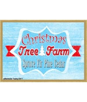 Retro Christmas Tree Farm Magnet