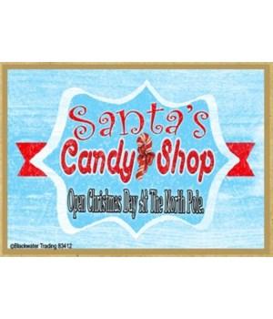 Retro Santas Candy Shop Magnet