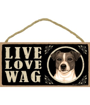 Jack Russell Live Love Wag 5x10 plaque