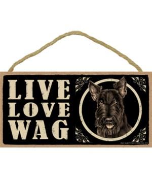 Scottish Terrier Live LoveWag5x10 plaque