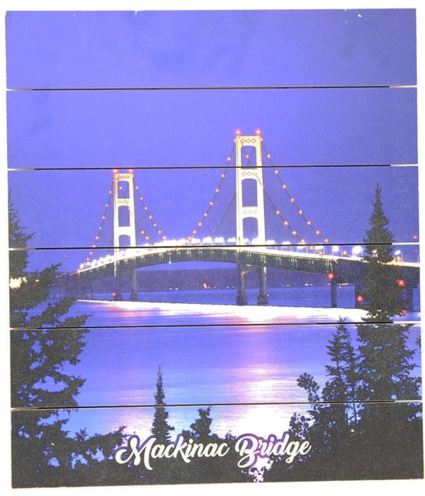 *Mackinac Bridge Pallet Sign