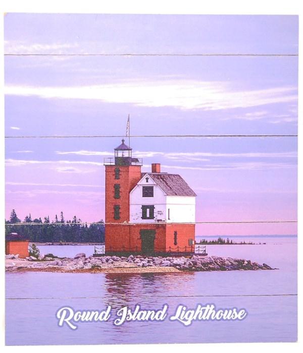 *Round Island Lighthouse Pallet Sign
