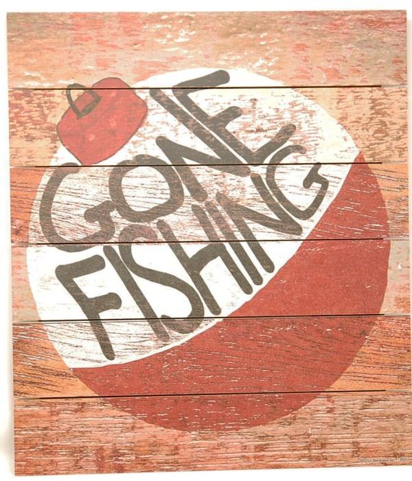 *Gone Fishing Pallet Sign