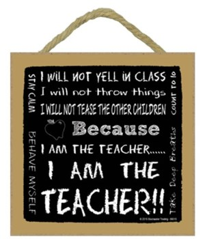 I am the Teacher Subway style 5 x 5 sign