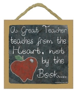 A great teacher 5 x 5 sign