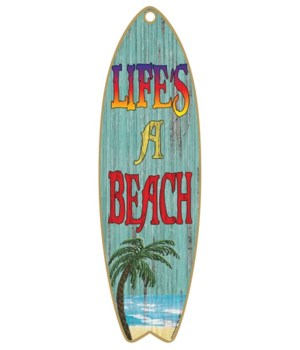 Life's a beach - palm tree Surfboard