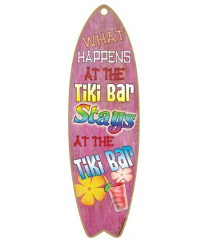 What happens at the tiki bar Surfboard