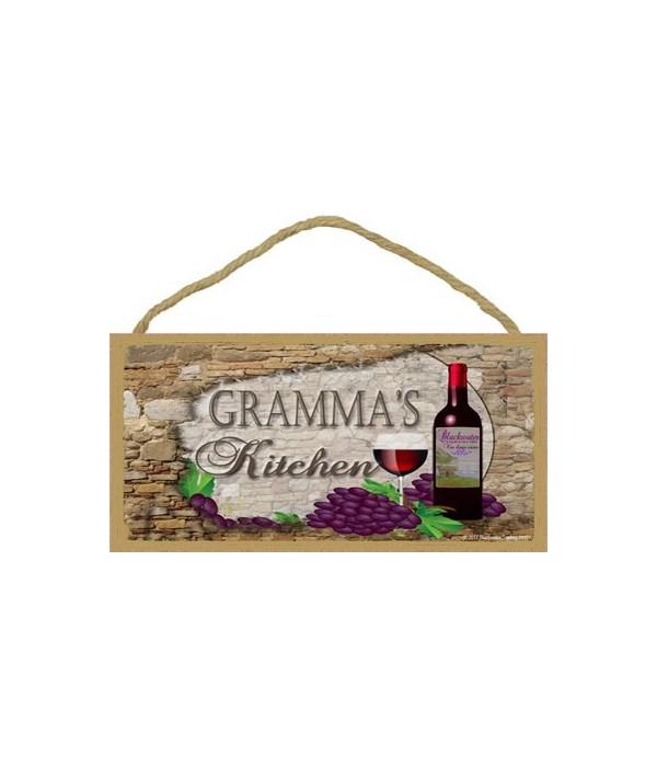 Gramma's Kitchen Wine Bottle 5 x 10 sign
