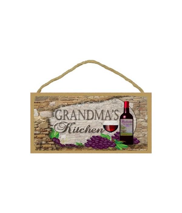 Grandma's Kitchen Wine Bottle 5 x 10 sig