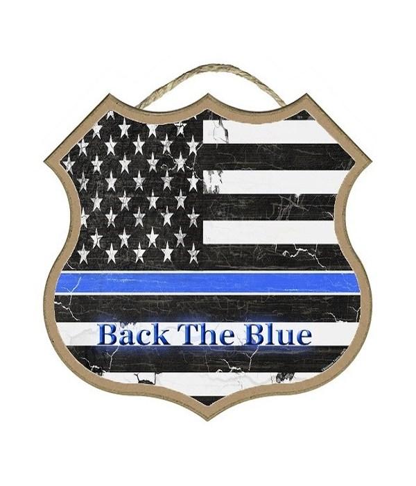 "Back The Blue Flag  10"""