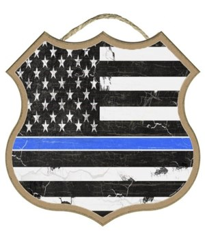 Thin Blue Line Flag  10""