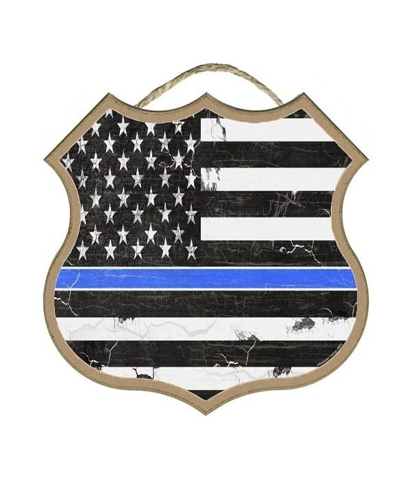 "Thin Blue Line Flag  10"""