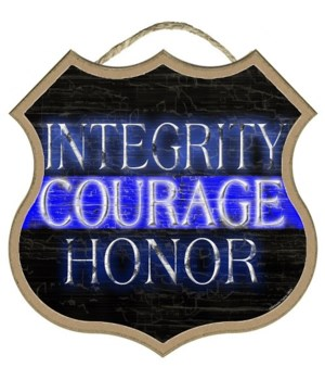 Integrity Courage Honor 10""