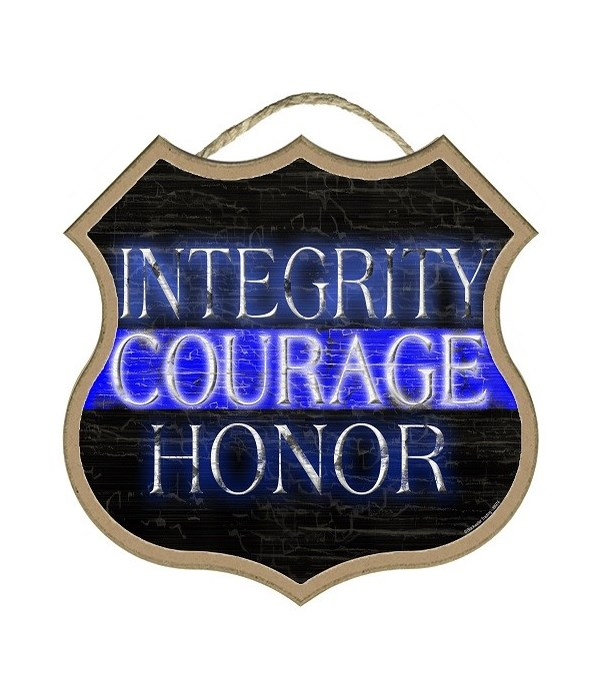 """Integrity Courage Honor 10"""""""