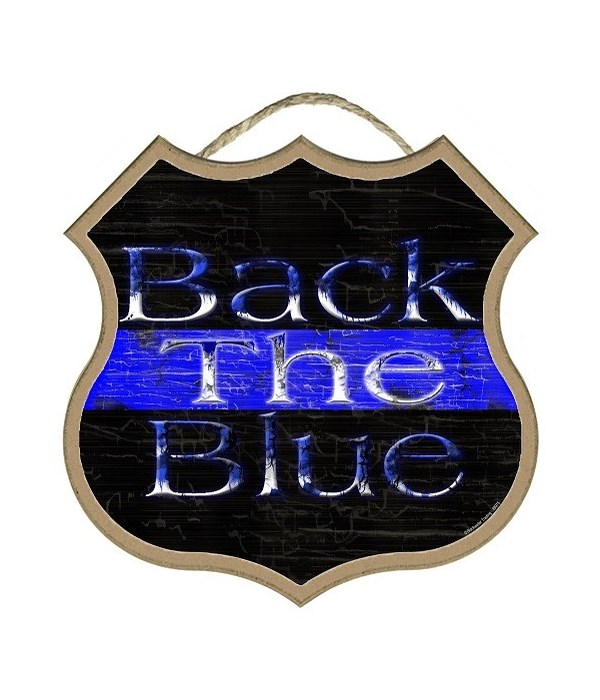 """Back The Blue  10"""""""
