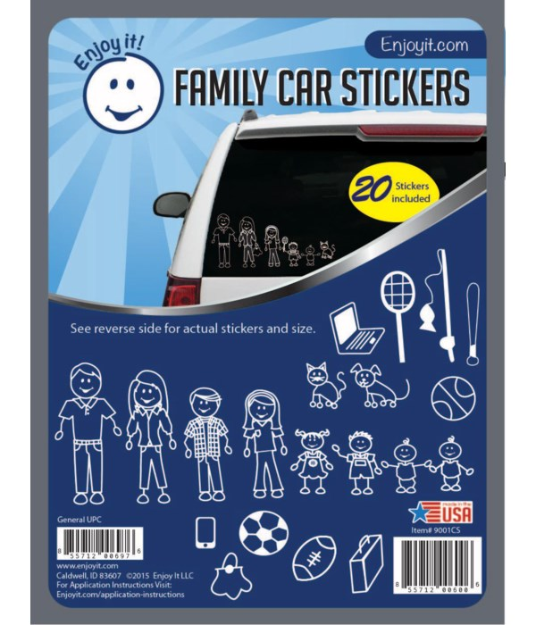 Traditional Family Car Stickers