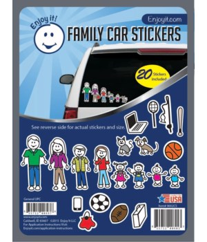 Color Accents Family Car Stickers