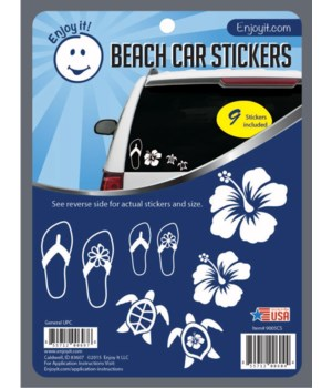 Beach Car Stickers