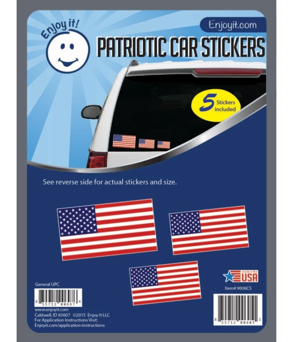 Traditional U.S.A. Flag Stickers