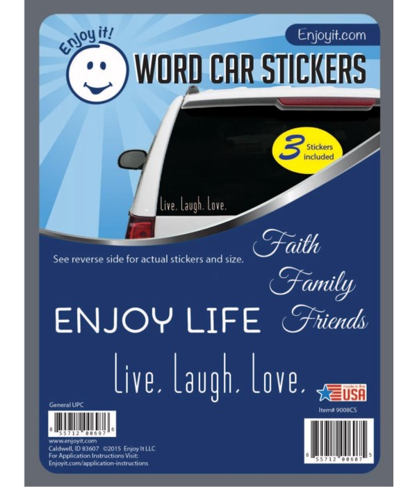 Word Car Stickers
