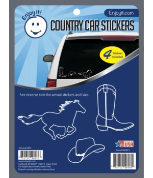 Country Car Stickers