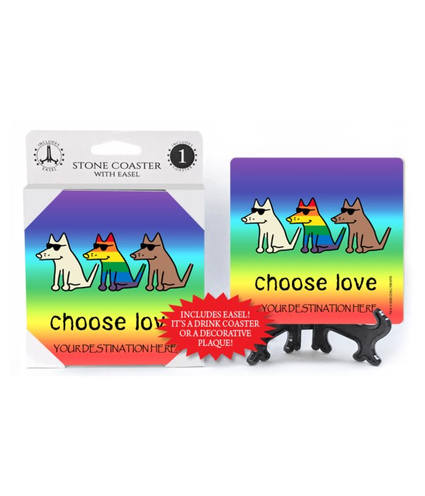 Choose Love - Rainbow dog and bkgd