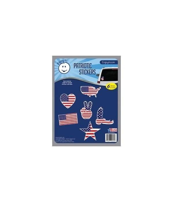 U.S.A. Flag Silhouette Car Stickers